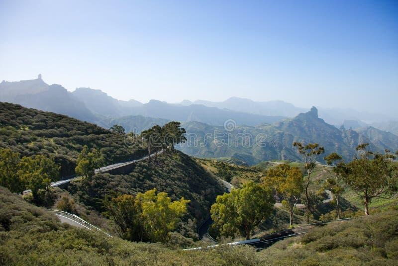 Gran Canaria, caldera de Tejeda en enero imagen de archivo libre de regalías