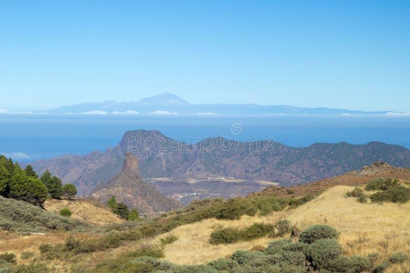 Gran Canaria, Caldera de Tejeda, morgonljus royaltyfria foton