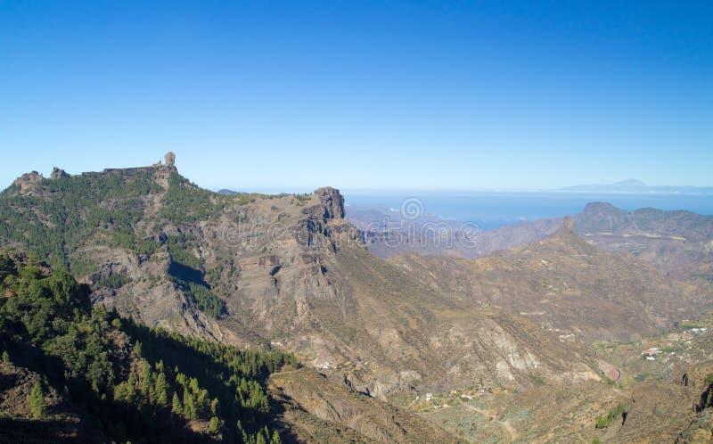 Gran Canaria, Caldera de Tejeda, morgonljus royaltyfri fotografi