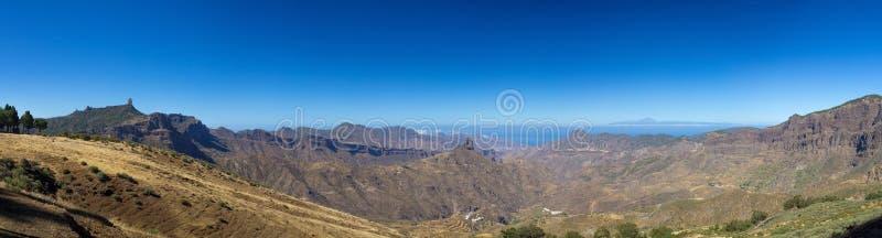 Gran Canaria, Caldera de Tejeda, morgonljus arkivfoto