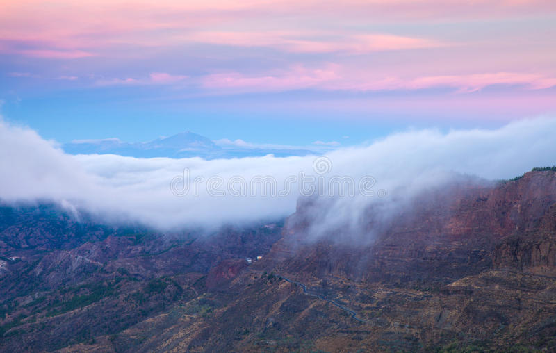 Gran Canaria, Caldera de Tejeda, otta arkivfoto