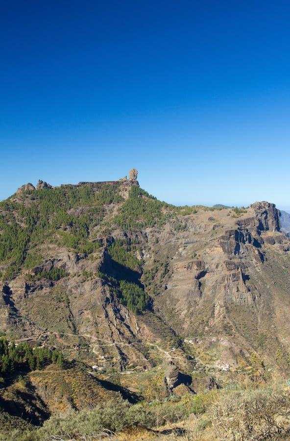 Gran Canaria, Caldera de Tejeda, Roque Nublo royaltyfri fotografi