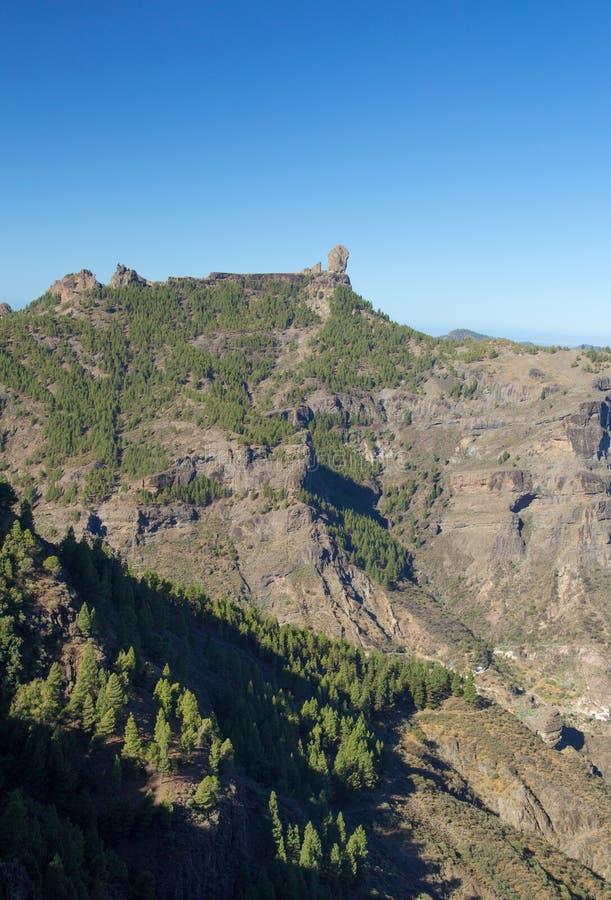 Gran Canaria, Caldera de Tejeda, Roque Nublo arkivbilder
