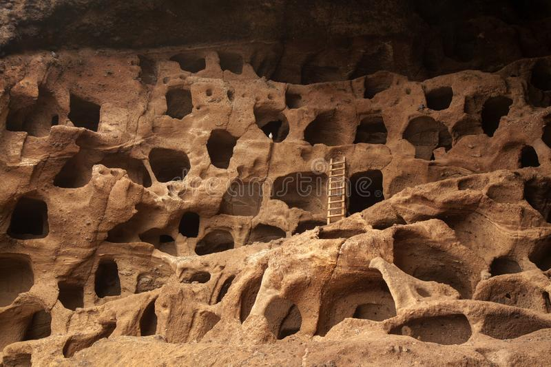 Gran Canaria, caverne di Valeron fotografia stock