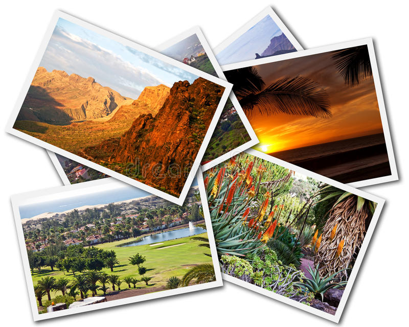 Gran Canaria Collage stock images