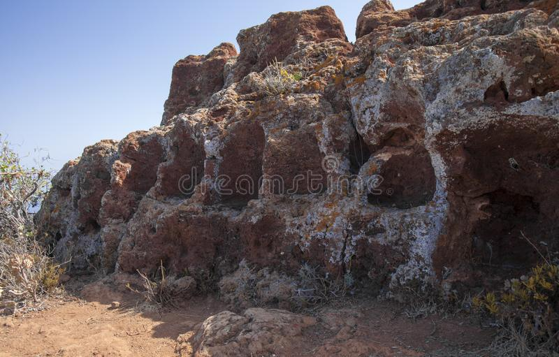 Gran Canaria, El Tagoror Del Gallego stockfotografie