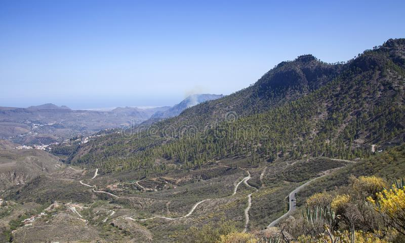 Gran Canaria, ogień obraz royalty free