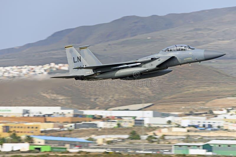 GRAN CANARIA 28 oktober, Militära manövrer, 28 oktober 2019 Gran Canaria Canary Spanien royaltyfri fotografi
