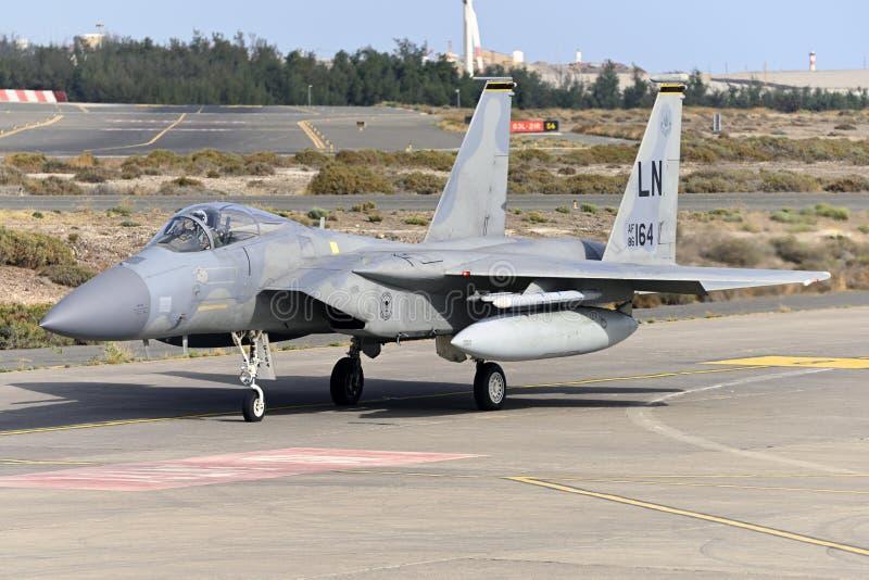 GRAN CANARIA 28 oktober, Militära manövrer, 28 oktober 2019 Gran Canaria Canary Spanien arkivfoton