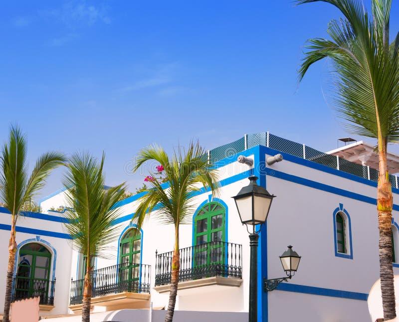 Gran Canaria Puerto de Mogan Weißhäuser stockfoto