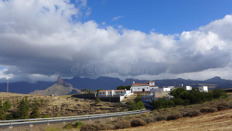 Gran Canaria's vilage stock photography
