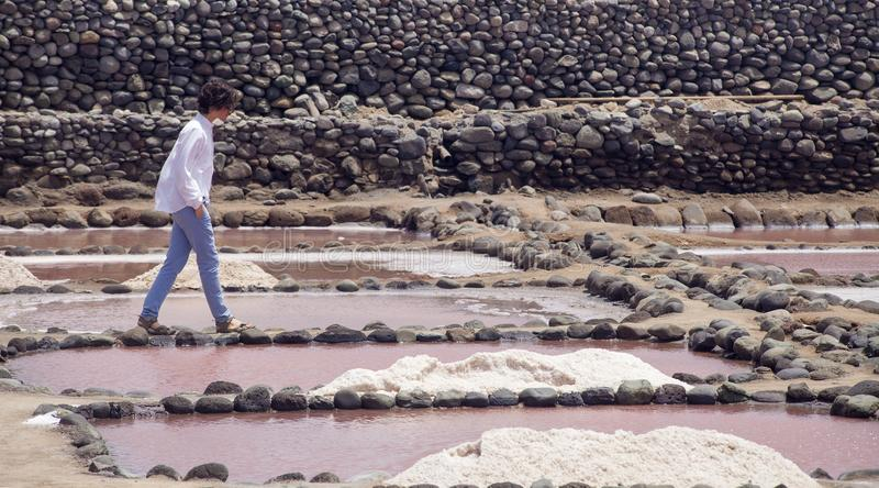 Gran Canaria, Salinas de Tenefe lizenzfreies stockbild
