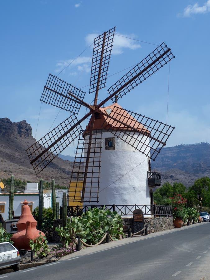 Molino de Viento Wind Mill, Gran Canaria, Spain. Gran Canaria/Spain - August 18 2019: Molino de Viento Wind Mill near the city of Mogan, Gran Canaria island royalty free stock photo
