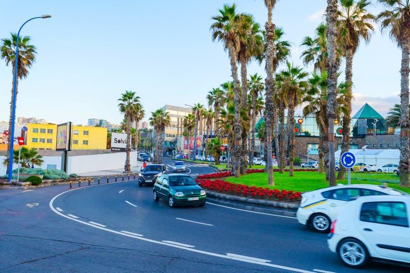 Gran Canaria spain 2 de dezembro de 2018 Ruas bonitas da Espanha de Gran Canaria imagem de stock royalty free
