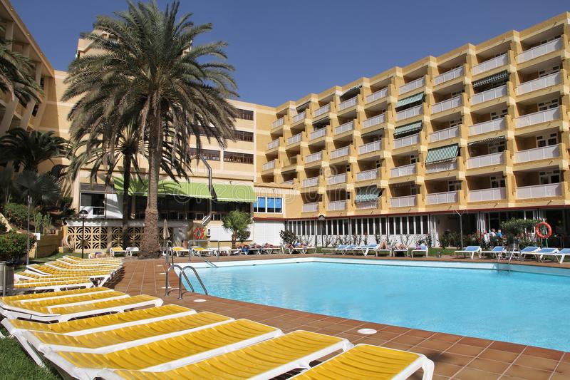 Hotel in Canary Islands royalty free stock photography