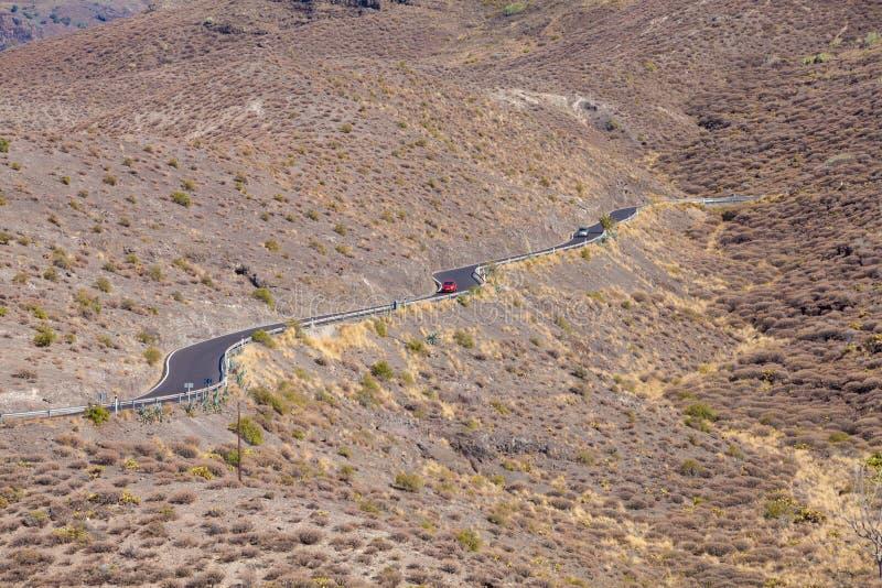 Gran Canaria, Straße lizenzfreies stockfoto