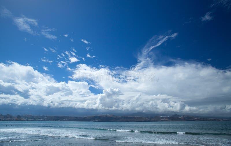 Gran Canaria, Strand EL Confital am Rand des Las Palmas lizenzfreie stockbilder