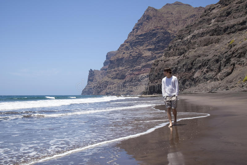Gran Canaria, Strand Playa de Guigui stockfotos