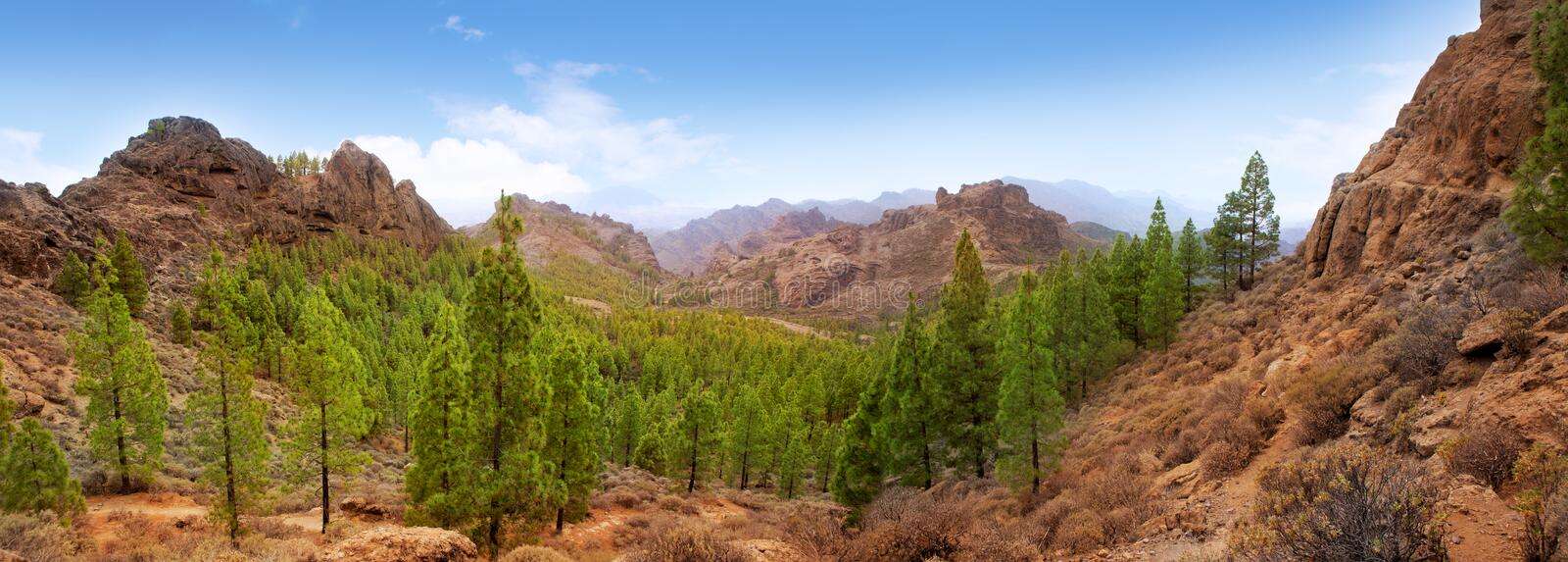 Gran Canaria Tejeda La Culata Mountains Stock Images
