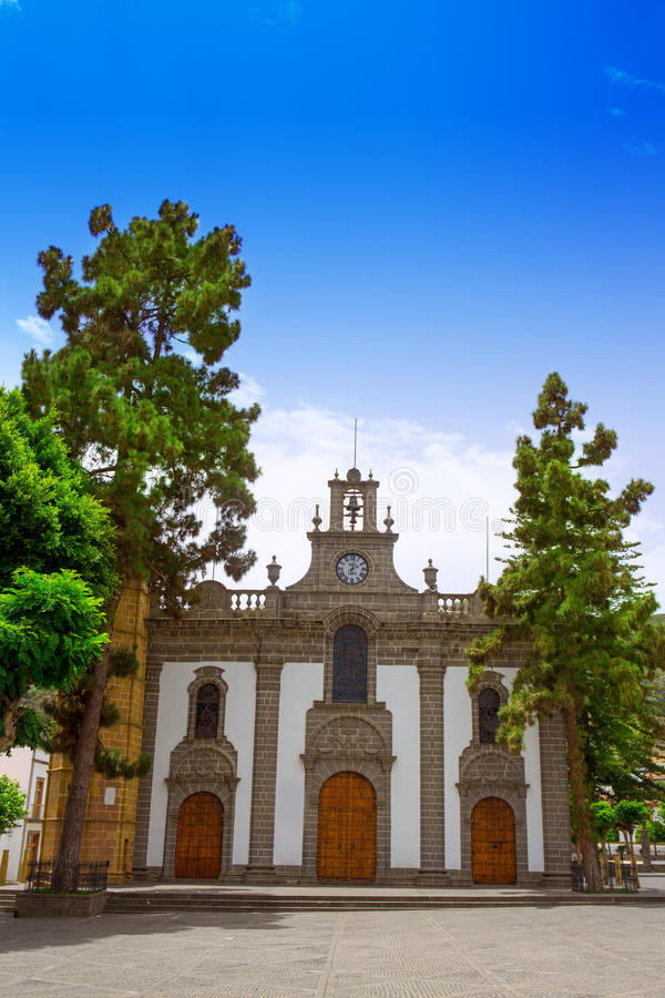 Gran Canaria Teror Church Canary Islands Stock Photography