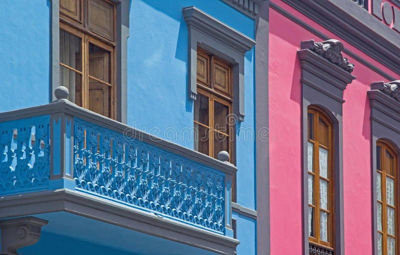 Gran Canaria, viejo detalle de la ciudad del Las Palmas imagen de archivo libre de regalías