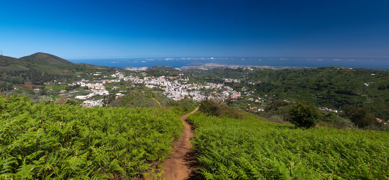 Gran Canaria, vista panorâmica de Teror fotos de stock