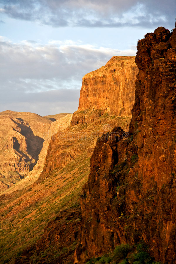 Gran Canarian Mountains royalty free stock images