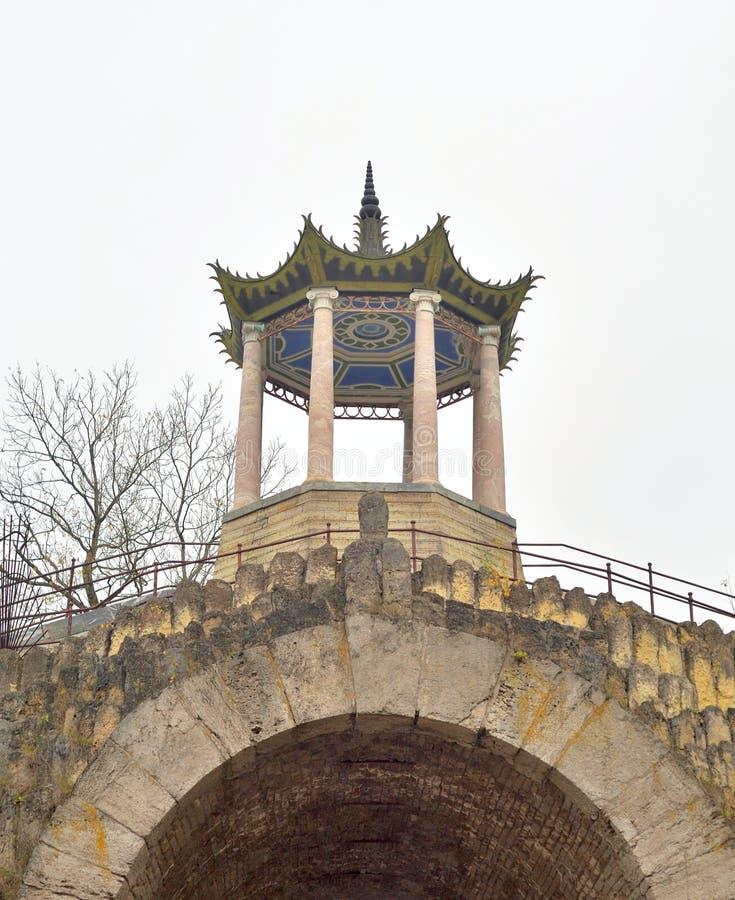 Gran capricho del pabellón en el parque de Alexander fotografía de archivo