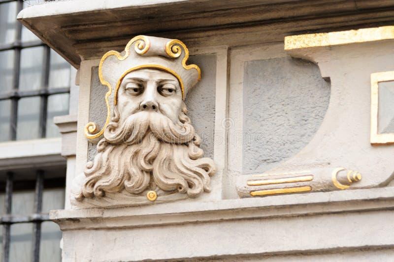 Gran cara del arsenal de Gdansk fotografía de archivo