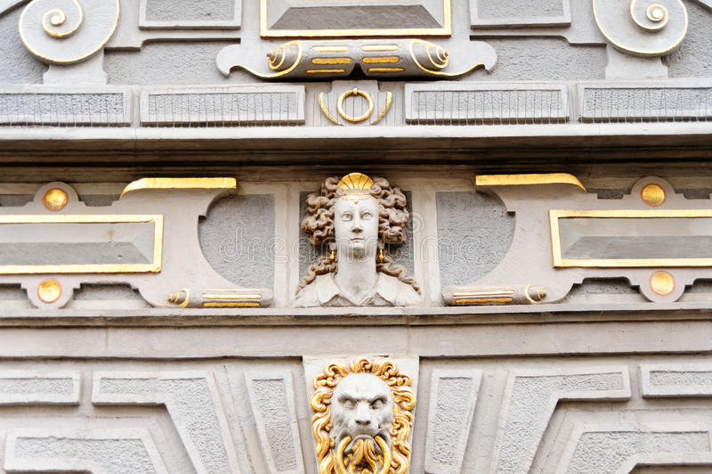 Gran cara del arsenal de Gdansk fotos de archivo libres de regalías