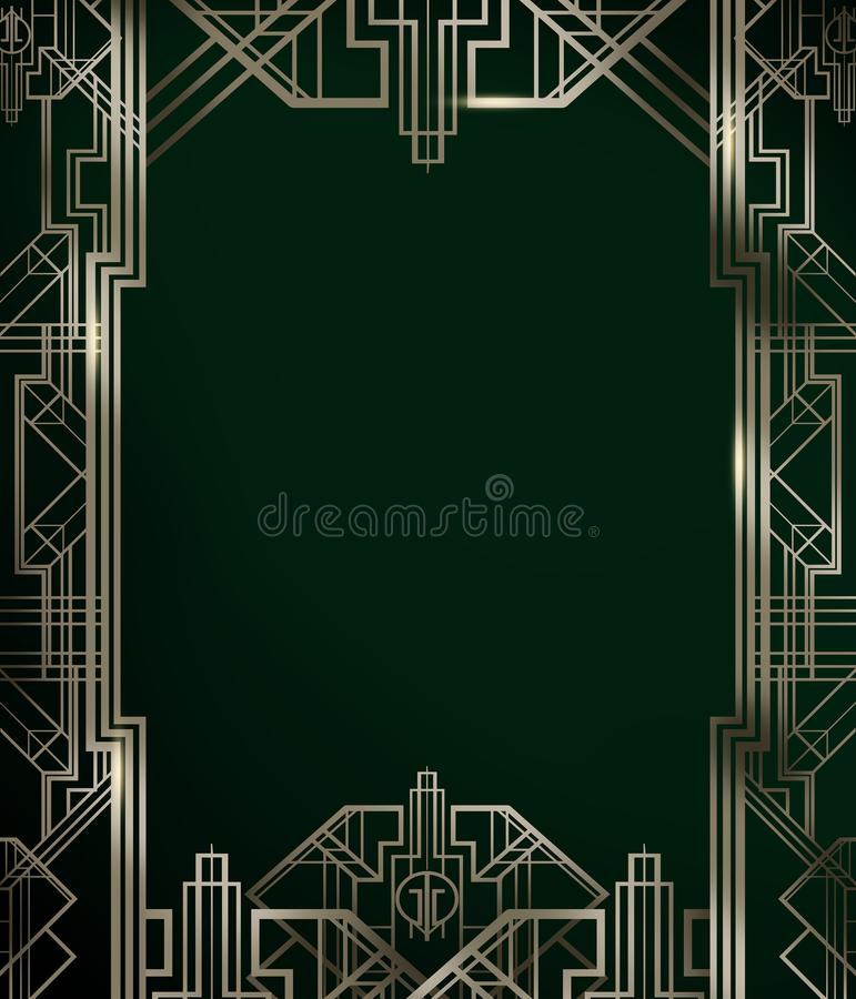 Gran cartel del fondo del contexto de la película de la inspiración de la película de Gatsby libre illustration