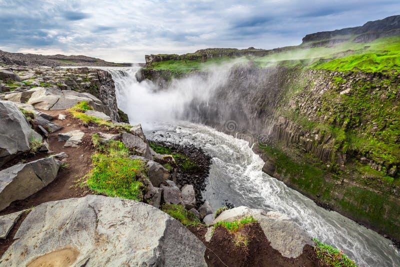 Gran cascada de Dettifoss, Islandia imagenes de archivo