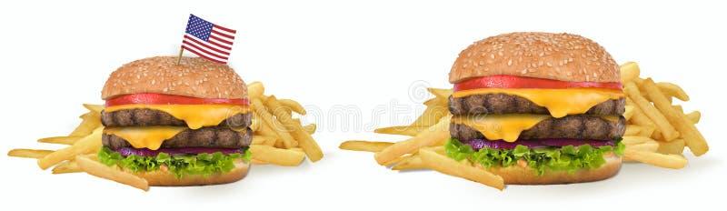 Gran cheeseburger americano foto de archivo libre de regalías