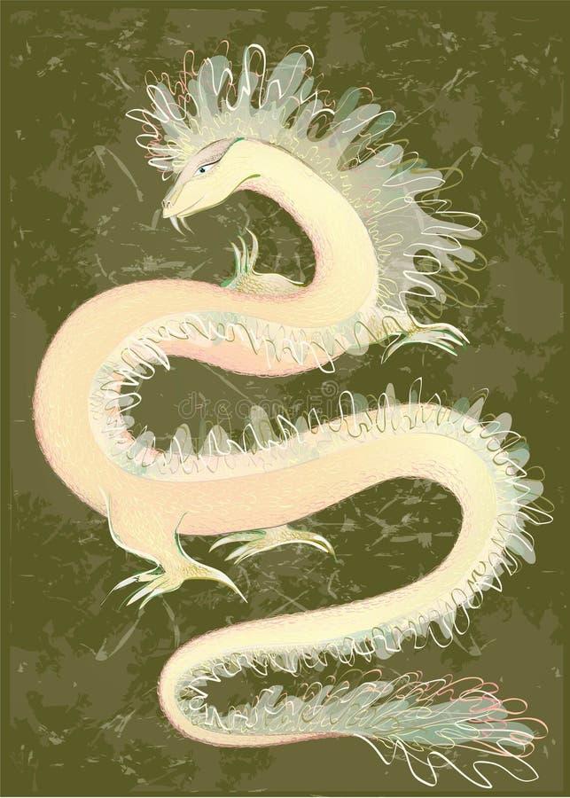 Gran color del dragón. Ilustración del Dr. chino libre illustration