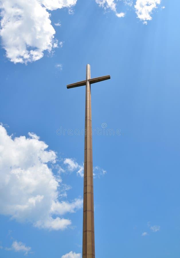 Gran cruz en St. Augustine fotos de archivo