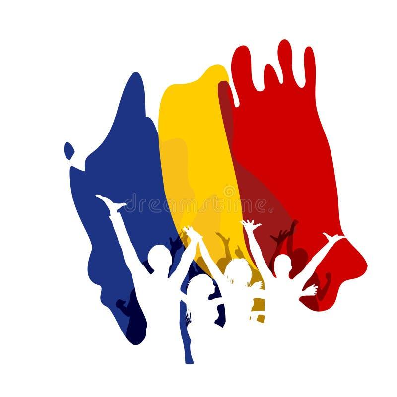 Gran día de la unión en Rumania stock de ilustración