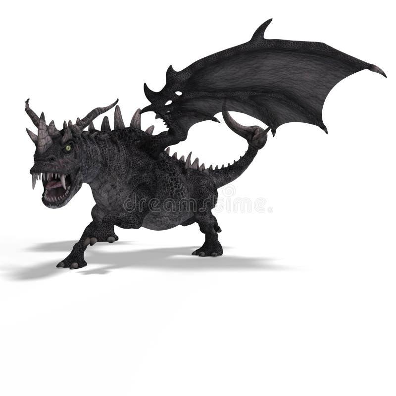 Gran dragón de la fantasía ilustración del vector