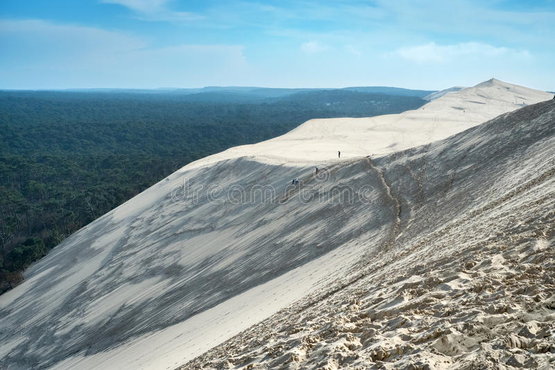 Gran duna de Pyla imagen de archivo