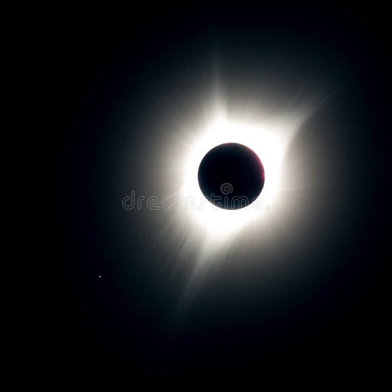 Gran eclipse americano 2017 fotografía de archivo libre de regalías