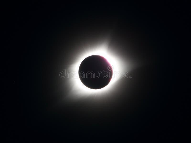 Gran eclipse americano mostrado en totalidad fotografía de archivo libre de regalías
