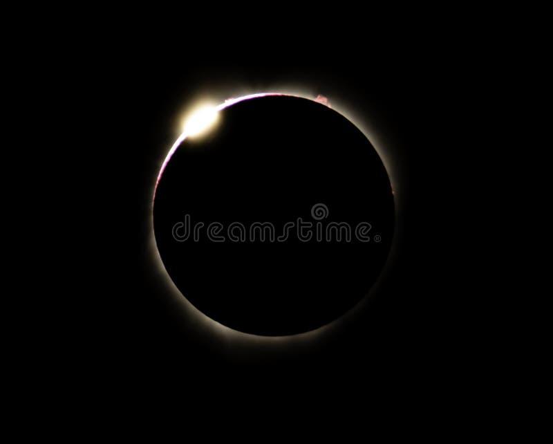 Gran eclipse americano 2017 imagen de archivo libre de regalías