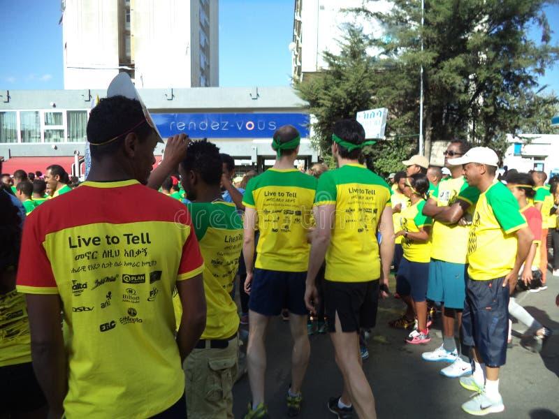Gran edición etíope Run-2016 fotografía de archivo