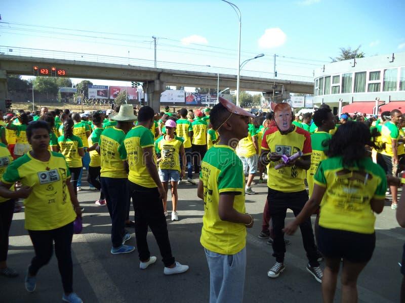 Gran edición etíope Run-2016 foto de archivo libre de regalías