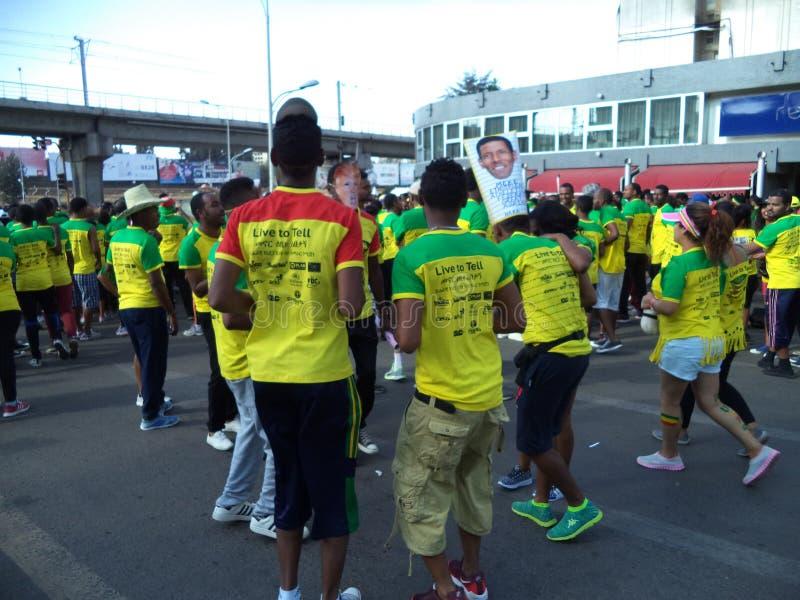 Gran edición etíope Run-2016 foto de archivo