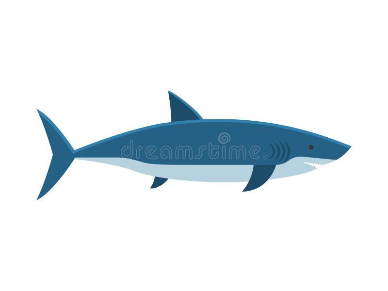 Gran ejemplo del vector del tiburón blanco stock de ilustración