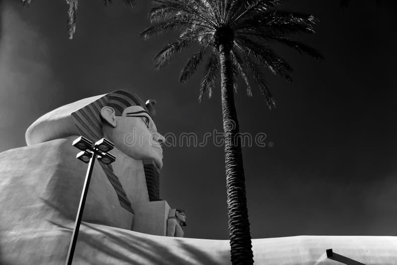 Gran esfinge de Giza en el hotel de Luxor fotografía de archivo libre de regalías