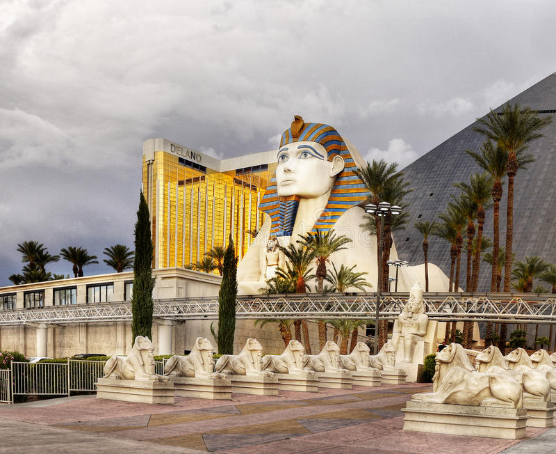 Gran esfinge de Giza, Las Vegas foto de archivo