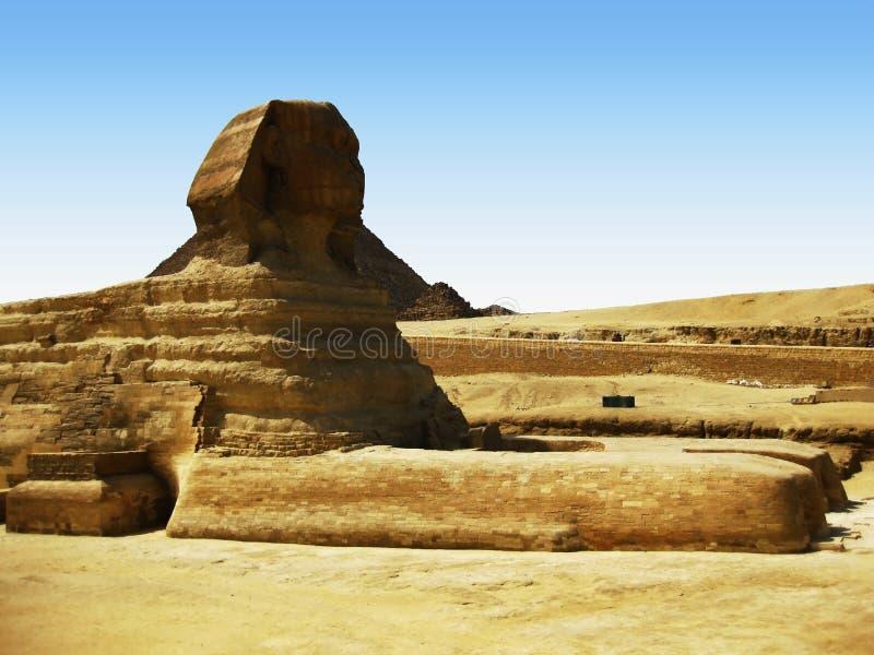 Gran esfinge en la meseta de Giza fotografía de archivo