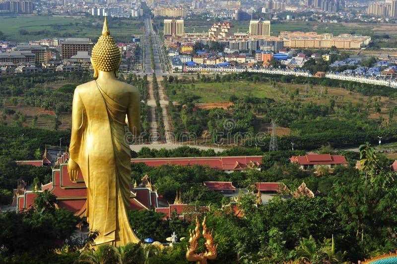 Gran estatua de Buda, Jinghong, China foto de archivo