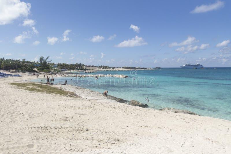 Gran estribo Cay Wide Beach imagenes de archivo